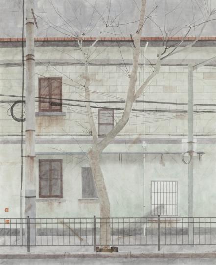 杨士奎 《作品160号》 80×65cm 纸本设色 2015