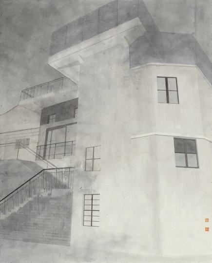 杨士奎 《作品167号》 80×65cm 纸本设色 2015