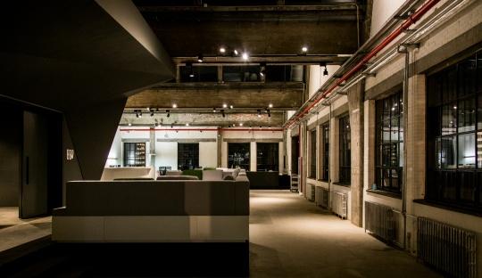歌德学院(中国)位于798艺术区新空间的内景图(局部)