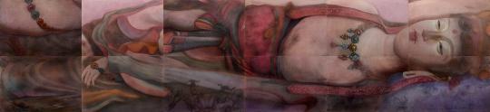 《卧观音》色粉110×448cm2015