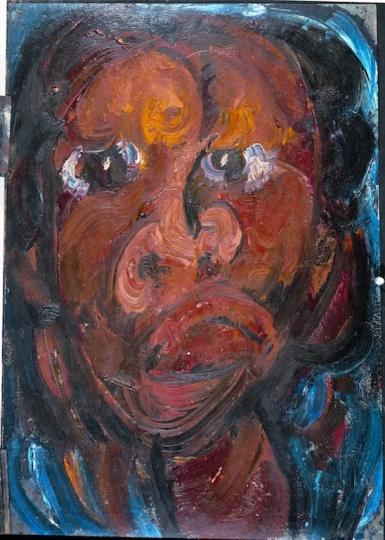 《自画像》 54×37.5cm 纸本油画 1984