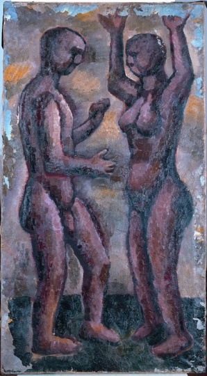 《最初的舞步》 90×49cm 布面油画 1984