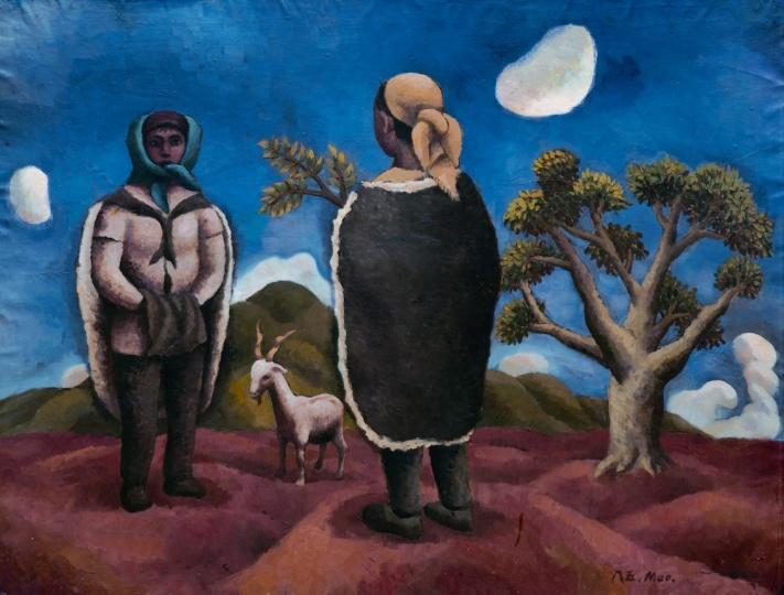 《圭山组画·遥远》 110x87.5cm 布面油画 1985