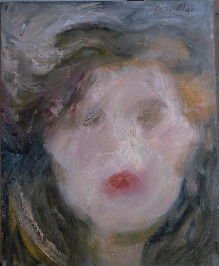 《某女士肖像》 119×89cm 纸板油画 1984