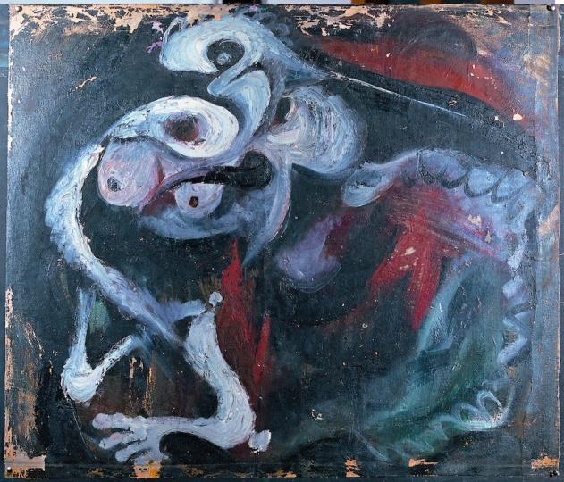 《突然显现的内部》81×95cm 布面油画 1984