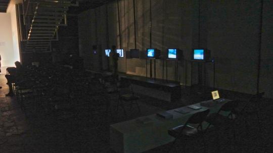 位于地下一层的第三单元影像展览现场