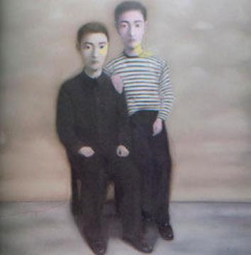 张晓刚 《大家庭系列第十五号》190×150cm  布面油画 1998  成交价:874.4万港元
