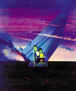 刘野 《沉船》 200×170cm 布面油画  1995  成交价:704万港元
