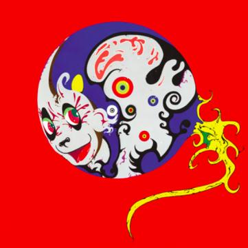 高瑀 《文化的精子》 189.7×189.7cm 布面丙烯  2005  成交价:62万港元