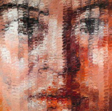 曾梵志 《我们二号》 250×250cm 布面油画  2002  成交价:422万港元