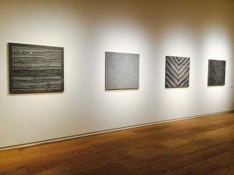 周钦珊2014年作品《四声变体》 布面丙烯、记号笔