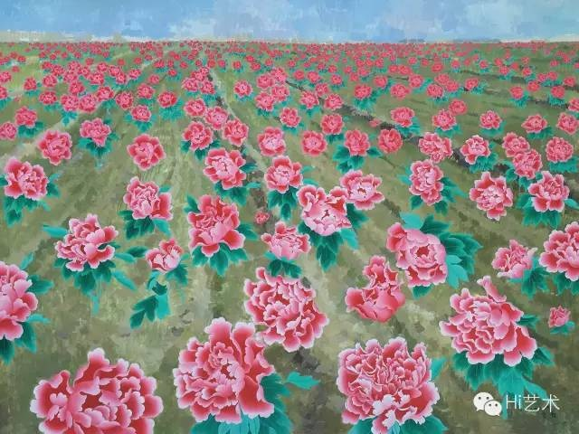Lot231 王音《花》177×237cm 布画油画2006 估价:90至150万港元