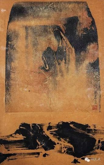 Lot2411 刘国松《空山》 89×57cm 纸本水墨1966 估价:25至35万港元