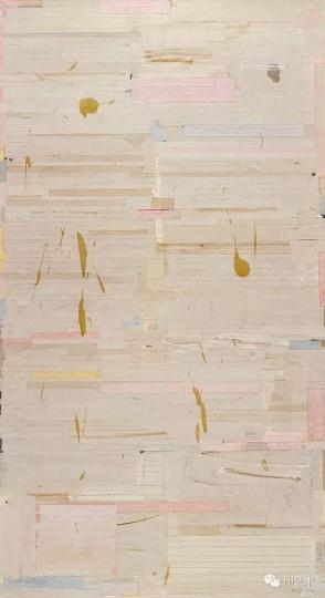 Lot2447 梁铨《茶禅之三》 183×100cm 布面综合材料 2006 估价:42至50万港元