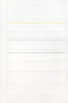 Lot934 林寿宇 《黄与灰》 46×31cm 布面油画 1980-1982 估价: 5-7万