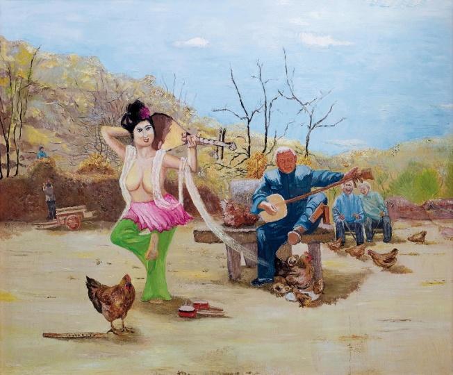 Lot 0253 段建宇 《艺术女神刚刚醒来3》181×217cm 布面油画 2011 估价:90-120万元