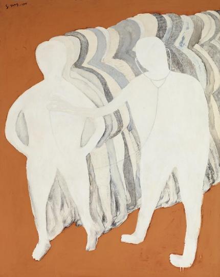 Lot 0240 尚扬 《诊断-6》 193×153.3cm 布面油画 1994 估价:400-600万元