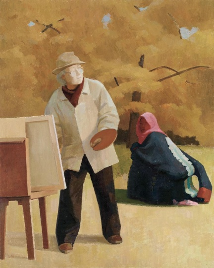 Lot 0252 王音 《父亲III》 201×161cm 布面油画 2011 估价:120-180万元
