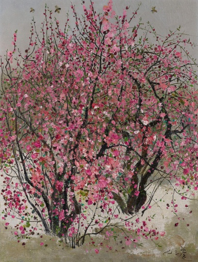 吴冠中 《小桃红》 61.1×46.3cm 布面油画 1973 香港苏富比
