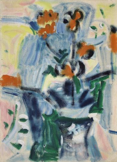 吴大羽《无题115》 54.3×39.1cm 布面油画 约1960