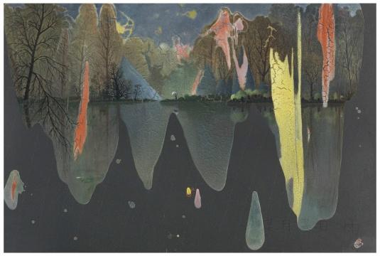 现场展出的陈可2015年新作《某月某日雨》