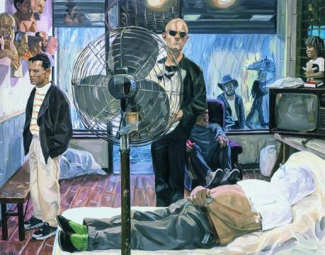 刘小东 《大雨(纽约)》 142×182cm 布面油画 1993 成交价:1150万元