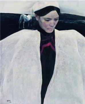 何多苓 《白衣彝女》 86×71.5cm 布面油画 1993 成交价:713万元
