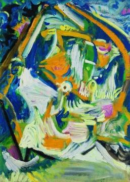 吴大羽《飞羽》 45.6×33cm 布面油画 1980 成交价:586.5万元