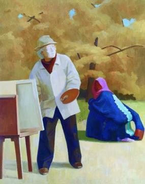 王音 《父亲III》 201×161cm 布面油画 2011 成交价:172.5万元