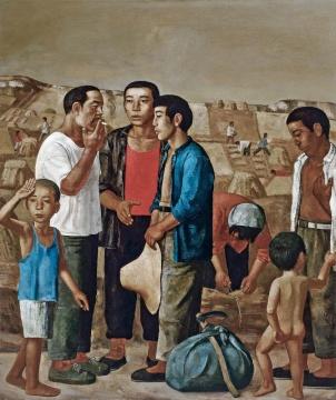 段建伟 《麦客到来》 180×150cm 布面油画 1994 成交价:437万元