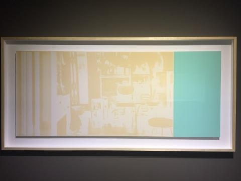 李美娟 《美丽的六十年代》 210×100×6cm 时间、光、乳胶漆纸本 2015