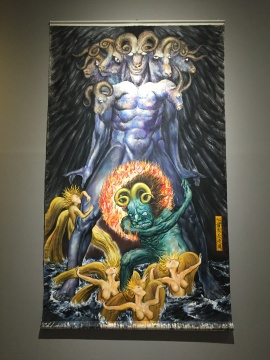 """龚旭""""十二生肖""""系列中关于羊的作品《七首大天使图》"""