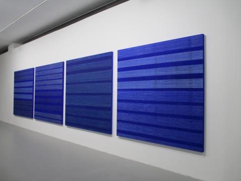 《蓝蓝-1/2/3/4》200×200cm×4 布面油画 2015