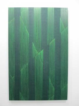 《六条切线-绿1》 250×160cm 布面油画 2015