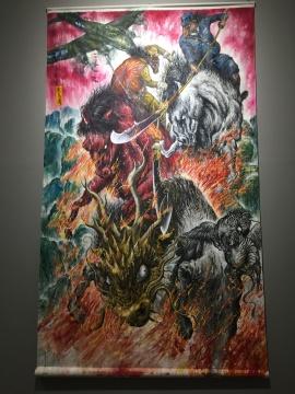 《战马图》描绘了激烈的战斗场面