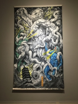《水淹金山寺图》 320×200cm 布面丙烯 2015