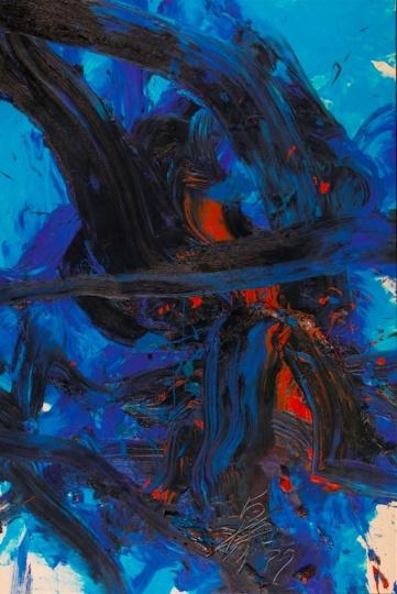 白发一雄《海炎》 布面油彩 1999图片来源:龙美术馆