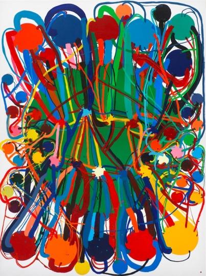 田中敦子 1975年作品 布面乙烯基类涂料1975年 图片来源:龙美术馆