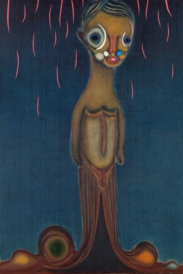 加藤泉 《无题》 194×130.3cm 布面综合材料 2012