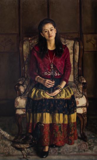 杨飞云 《一杯红酒》 185×115cm 布面油画 2009