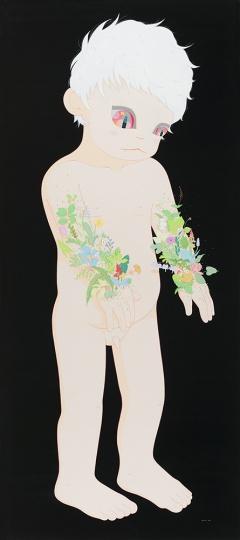 郝朗 《孤独症患者1》 250×110cm 布面丙烯 2014