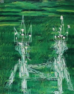 欧阳春《王者》 230x180cm 布面油画 2005  成交价:48.3万元