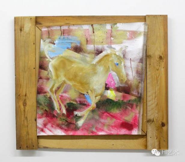 Masato KOBAYASHI 《关于自由》 77x86cm 布面油画、丙烯 2013