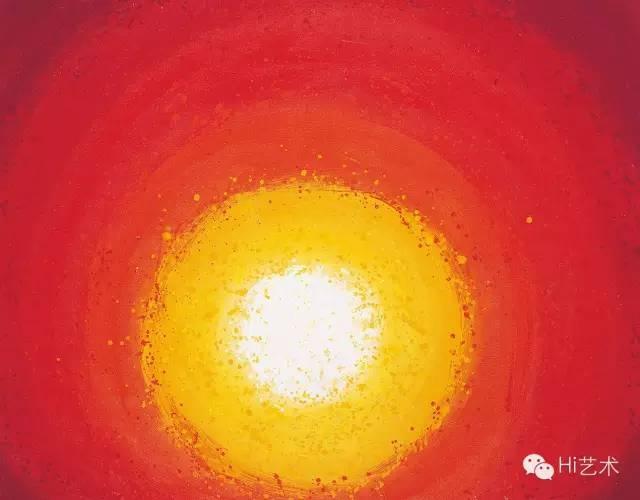 萧勤 《向太阳致敬-5》 70x90cm 亚克力画布 2004