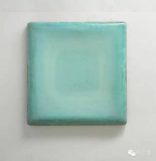 苏笑柏《月明中》175x170x14 cm 油彩、漆、麻、Emulsion、木 2015