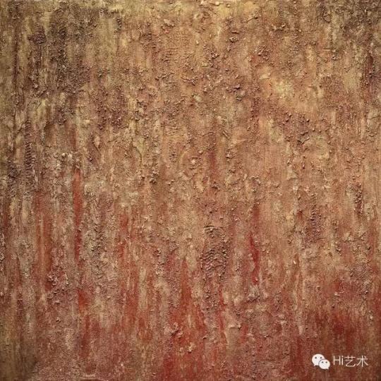 蒋友梅 《天地生死经(二)》101.6x101cm 复合媒材、油彩、画布 2014