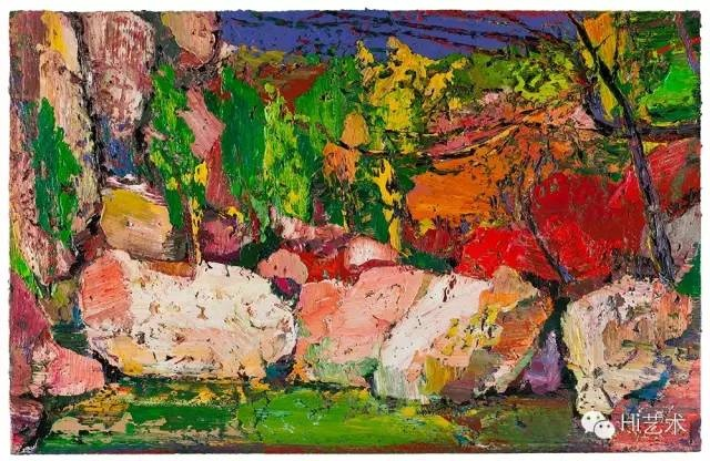 尹朝阳 《石泉》 160×250cm 布面油画 2015