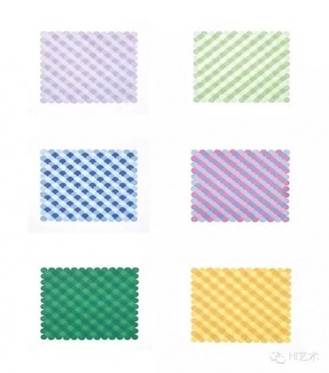 董大为 《多彩四色水织纹》 25x32.5cm 纸上马克笔 2014