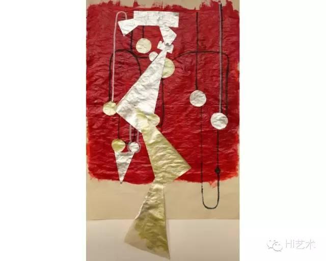 UMA《手稿》92x54 cm 纸上丙烯、综合材料 2015