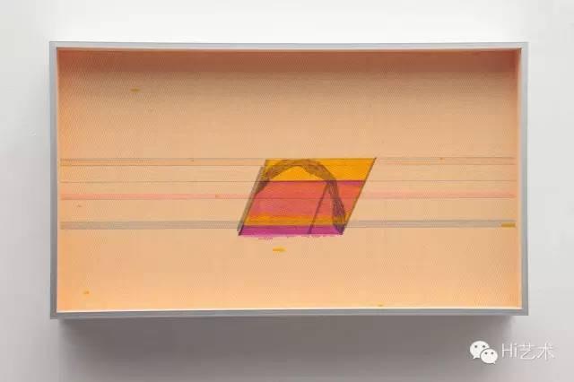 张如怡 《斜-1》20x35 cm 综合纸本 2015